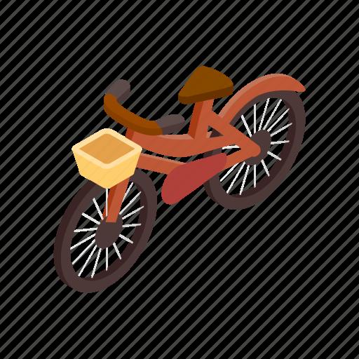 bicycle, bike, cycle, isometric, race, vehicle, wheel icon