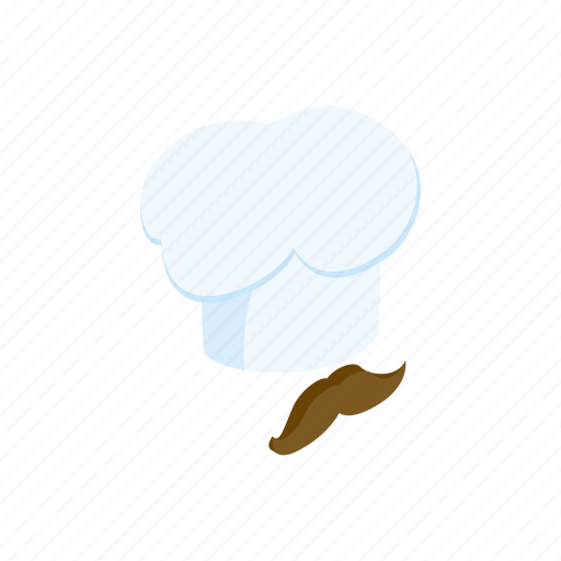 cap, chef, cook, gourmet, kitchen, mustache, restaurant icon