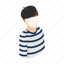 comedian, hat, isometric, male, man, mime, pose icon