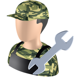 fettler, repairer, repairman, serviceman, shopman icon