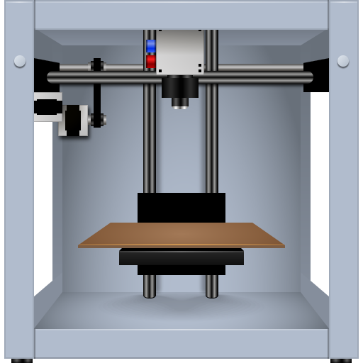 3d, impress, imprint, list, machine, makerbot, press, print, printing, run, seal, stamp, type icon