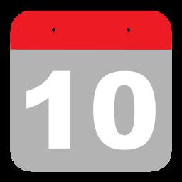 calendar, event, hovytech, one, schedule, ten, zero icon
