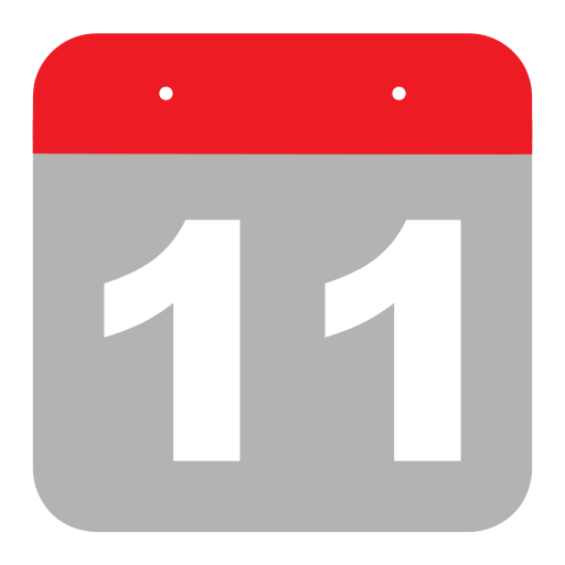 calendar, eleven, event, hovytech, one, schedule, time icon