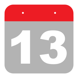calendar, event, hovytech, one, schedule, thirteen, three icon