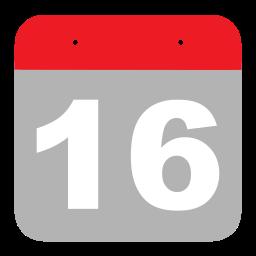 calendar, event, hovytech, one, schedule, six, sixteen icon