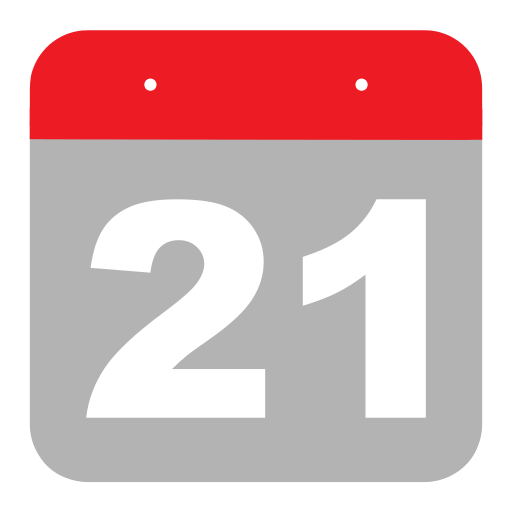 calendar, event, hovytech, one, schedule, twenty-one, two icon