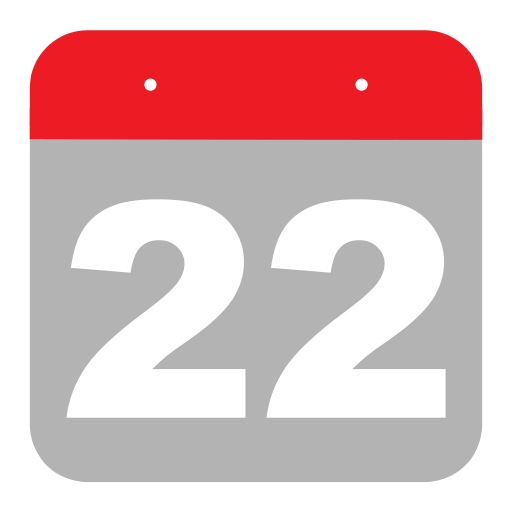 calendar, event, hovytech, schedule, second, twenty-two, two icon