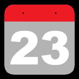calendar, event, hovytech, schedule, three, twenty-three, two icon
