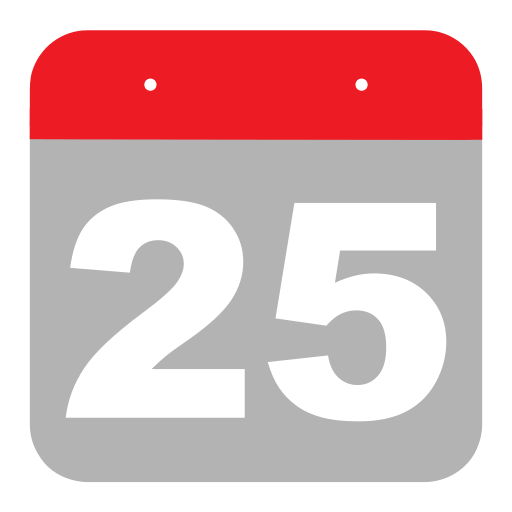 calendar, event, five, hovytech, schedule, twenty-five, two icon