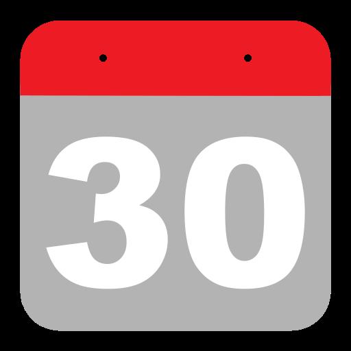 calendar, event, hovytech, schedule, thirty, three, zero icon