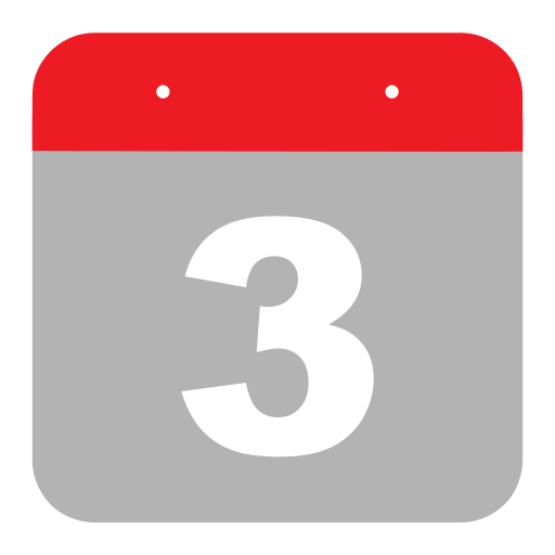 calendar, event, hovytech, schedule, third, three, time icon