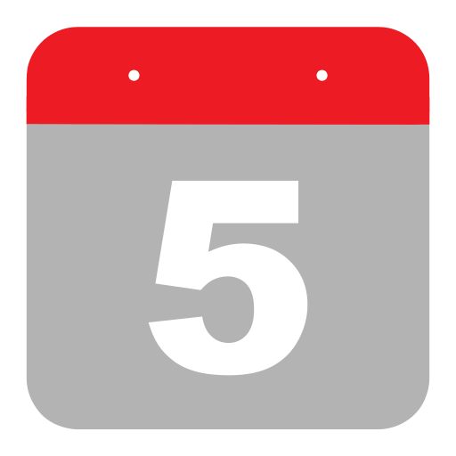 calendar, event, fifth, five, hovytech, schedule, time icon