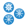 christmas, flakes, snow icon