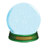 christmas, globe, snow icon