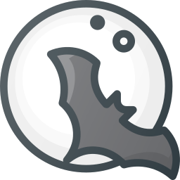 bat, halloween, moon, vampire icon