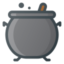 boil, cauldron, halloween, witch icon