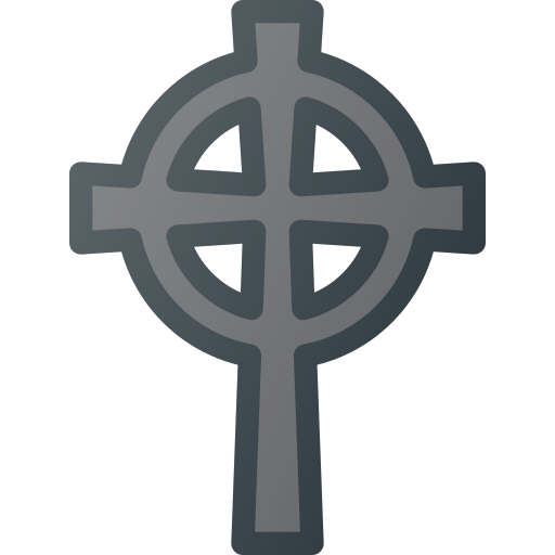 celtic, cemetery, cross, death, grave, stone icon