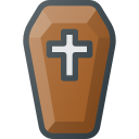 coffin, death, halloween icon