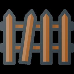 broken, fence icon