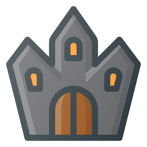 castle, ghost, halloween, spooky icon