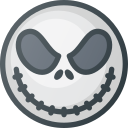 cartoon, haloween, jack, movie, skellington icon
