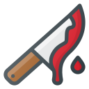 bloody, horror, kill, knife icon