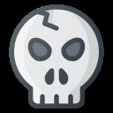 broken, scare, skull