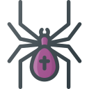 cross, poison, spider icon