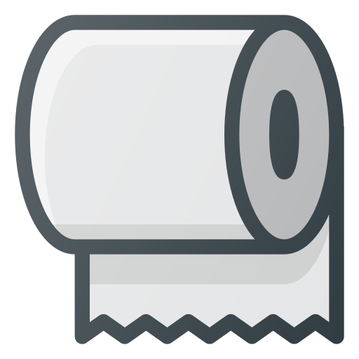 paper, roll, toilet, trick icon