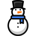 christmas, play, snowman, winter icon