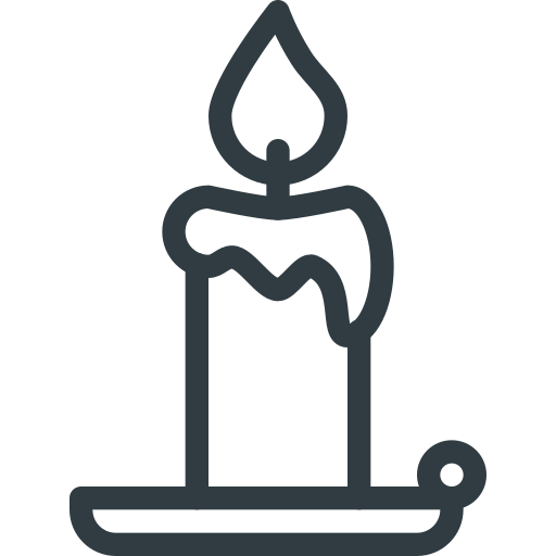 candle, halloween icon