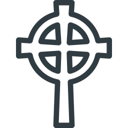 celtic, cross, halloween icon