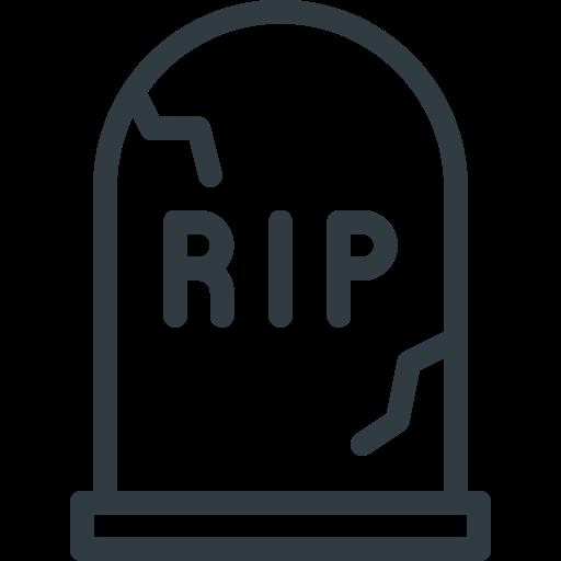cemetery, grave, halloween, stone icon