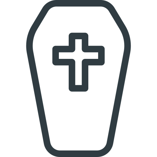 coffin, halloween icon