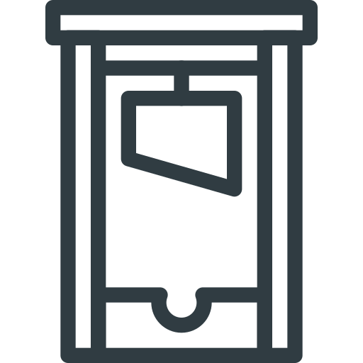 guillotine, halloween icon