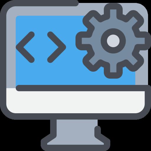 browser, computer, development, gear, interface, photo icon