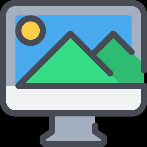 computer, creative, media, photo icon