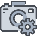 cam, camera, digital, gear, process icon