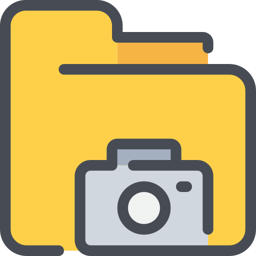 camera, document, folder, media, photography icon