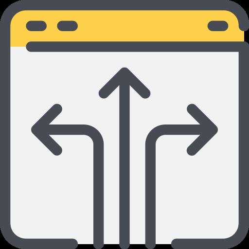 arrow, browser, solution, website icon