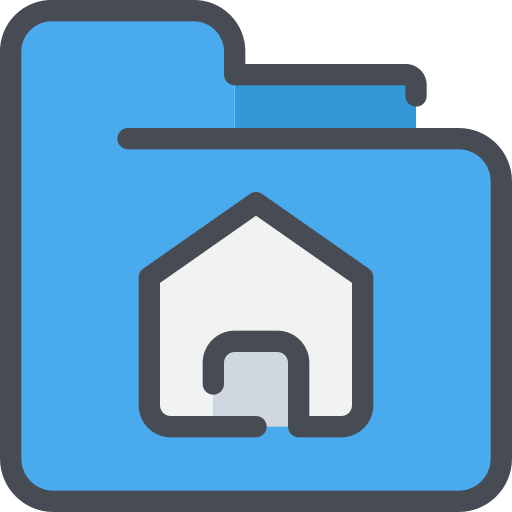document, file, folder, home icon