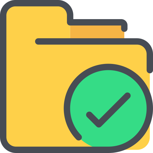 check, document, file, folder icon
