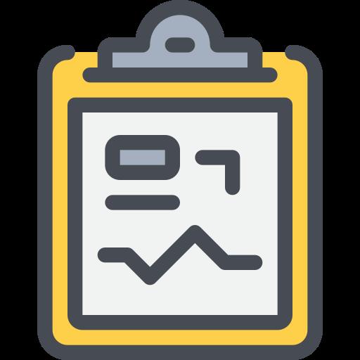 business, clip board, data, medical, report icon