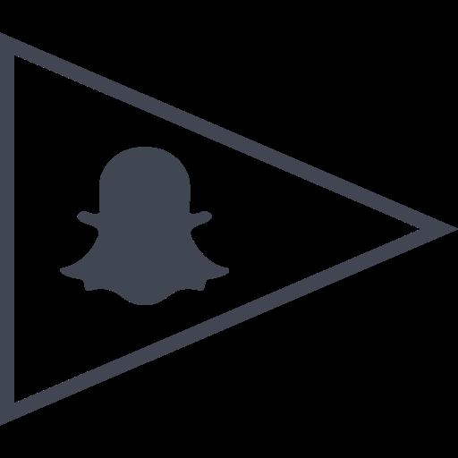 flag, media, snapchat, social icon