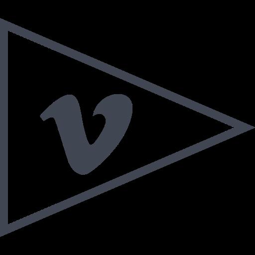 Flag, media, social, vimeo icon - Free download