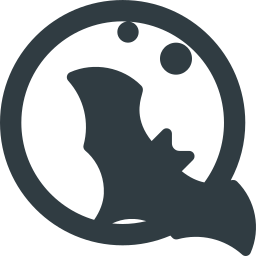 bat, halloween, moon icon