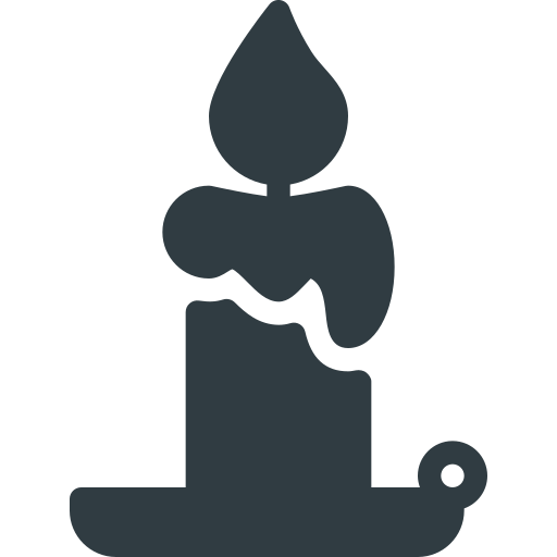 candle, halloween icon