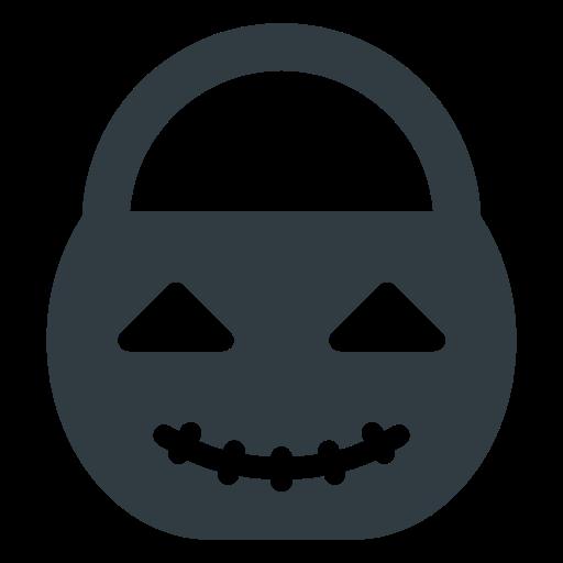 bucket, halloween, pumpkin icon
