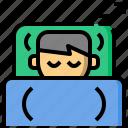 bed, dreams, resting, sleep, sleeping, sleepy, tired icon