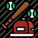 baseball, bat, entertainment, equipment, hobbies, softball, sport icon